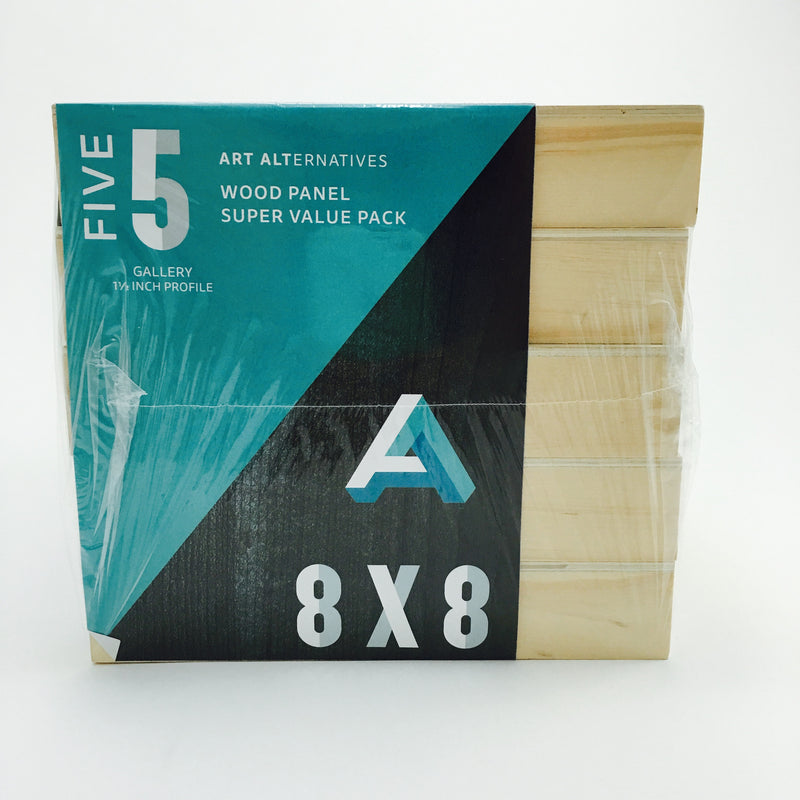 "Art Alternatives Wood Panel Value Pack with Gallery 1.5"" Profile"
