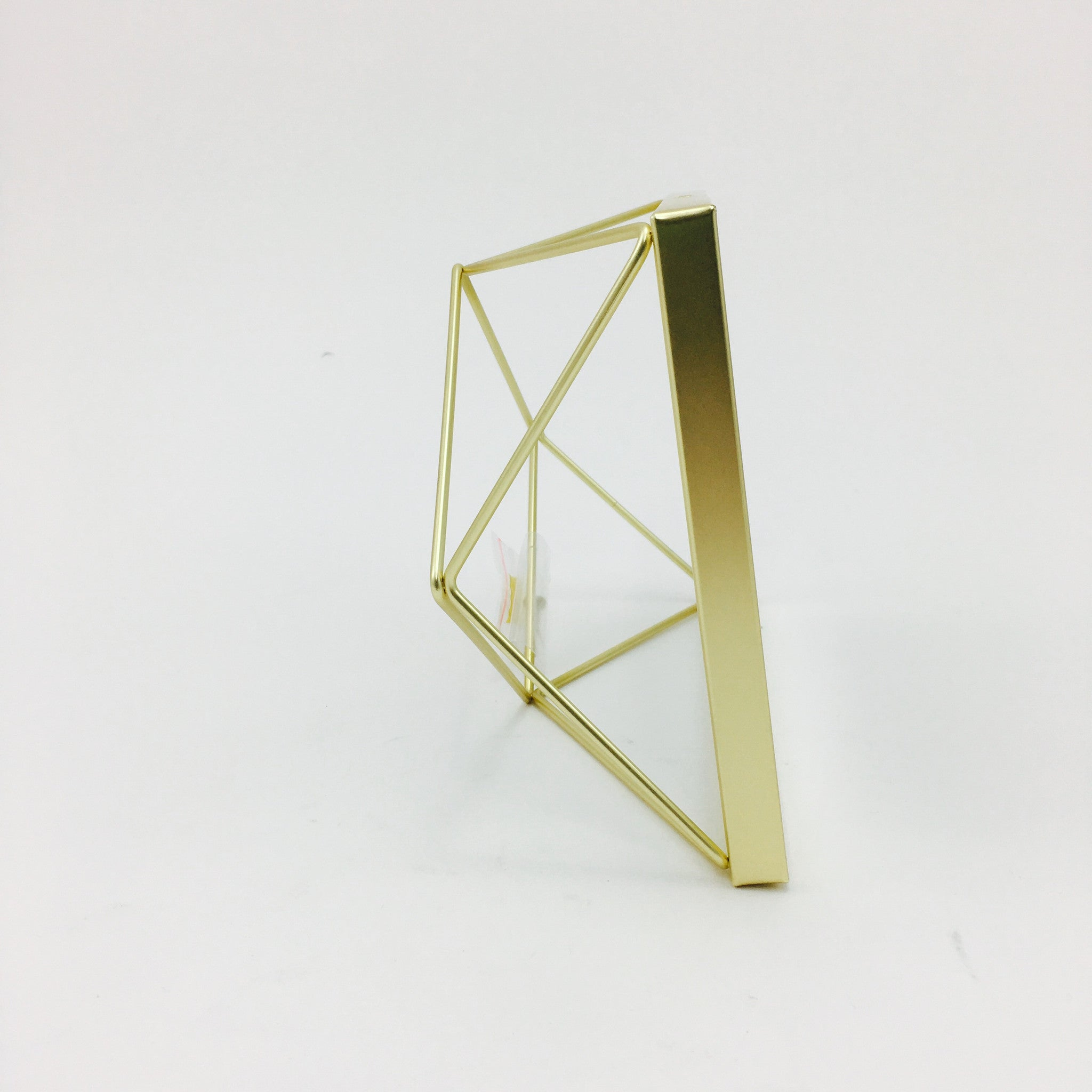 """Prisma"" Picture Frames in Matte Brass by Umbra - 4 x 4 inches by Umbra - K. A. Artist Shop"