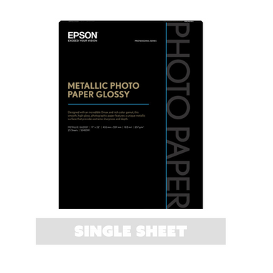 Epson Metallic Photo Paper Glossy Printer Paper - Single Sheet - 17 x 22 inches by Epson - K. A. Artist Shop