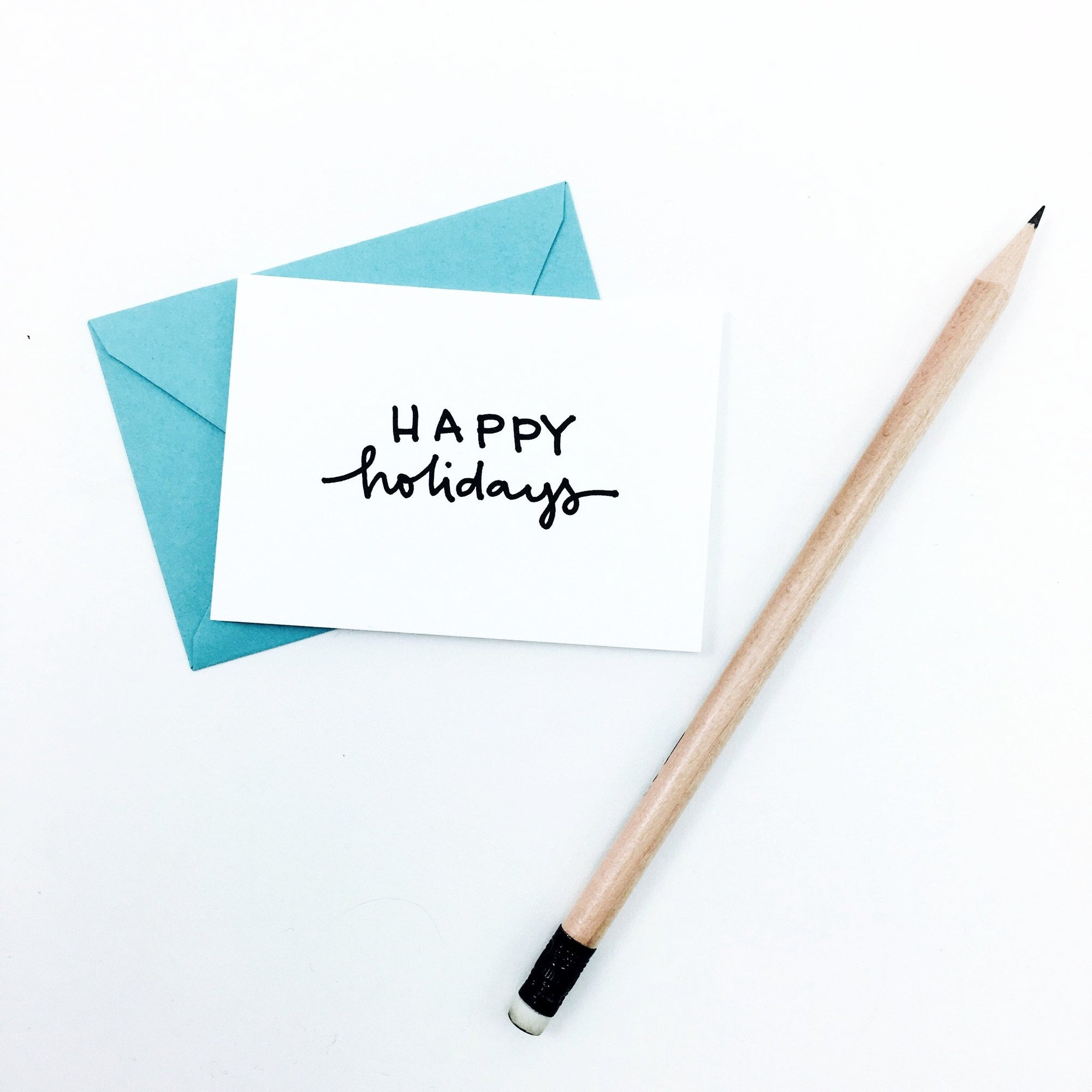 """Happy Holidays"" Mini Hand-Drawn Greeting Card"