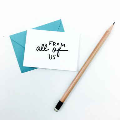 """From All of Us"" Mini Hand-Drawn Greeting Card - by K. A. Artist Shop - K. A. Artist Shop"