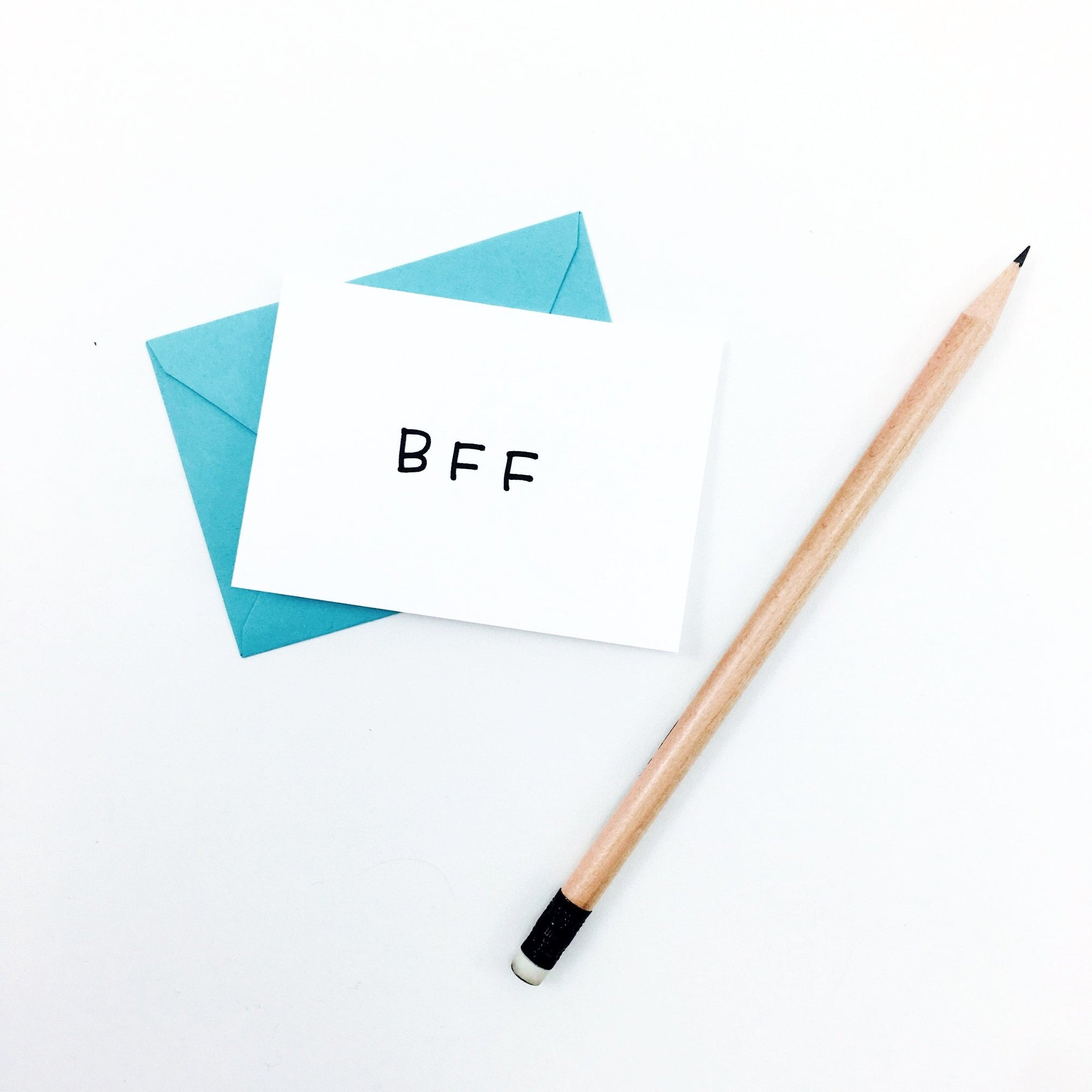 """BFF"" Mini Hand-Drawn Greeting Card by KA"