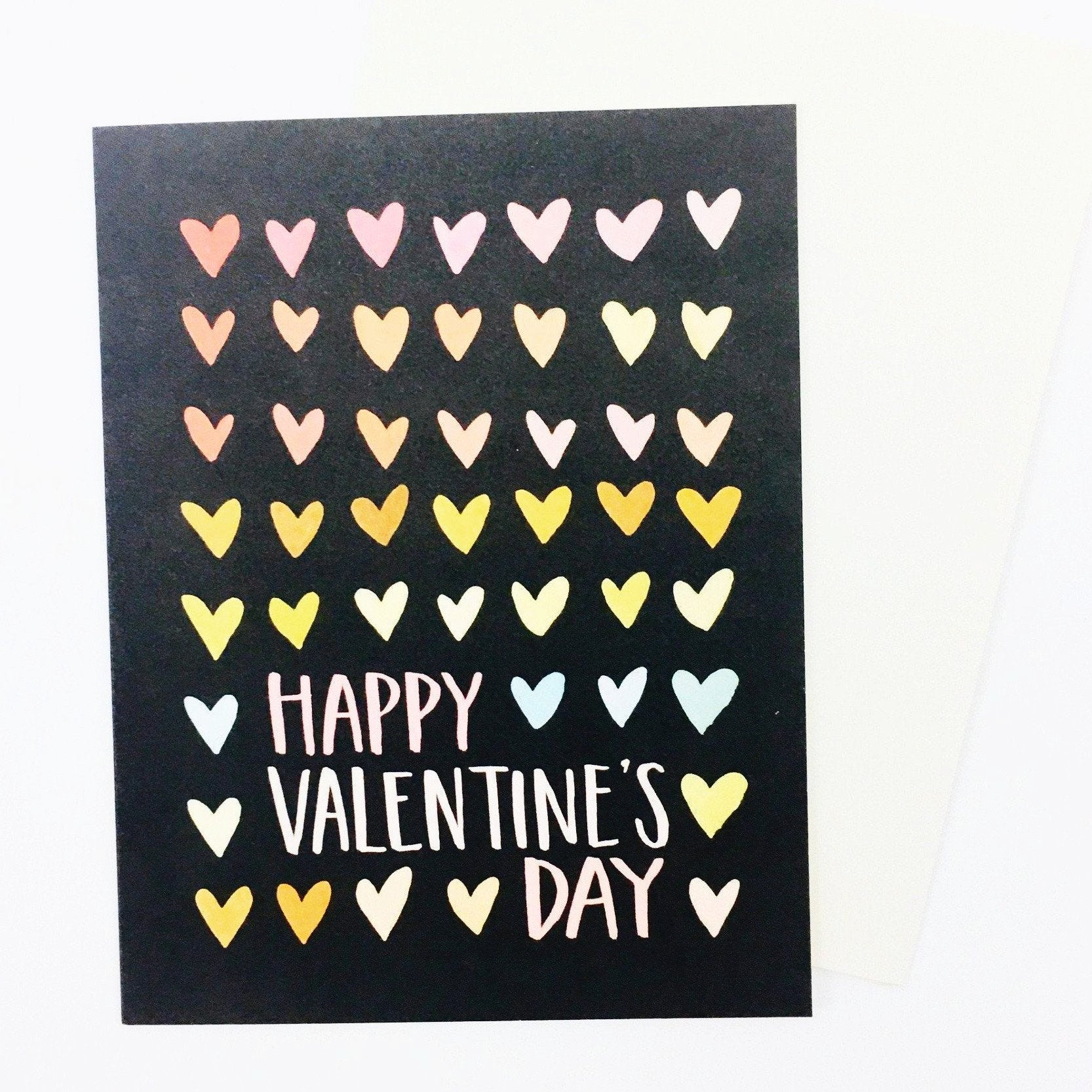 """Happy Valentine's Day"" Rainbow Heart Card by One Canoe Two"