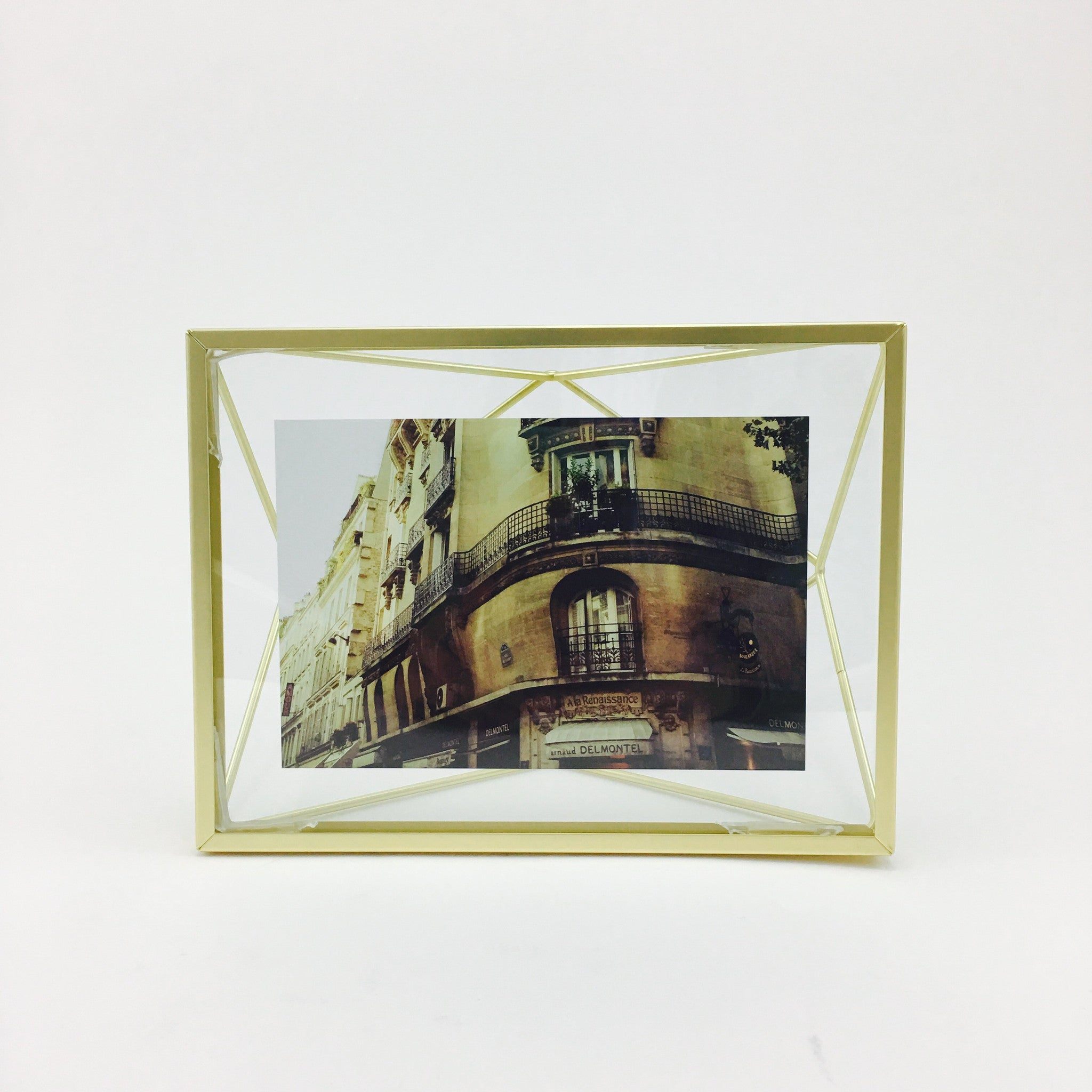 """Prisma"" Picture Frames in Matte Brass by Umbra - 4 x 6 inches by Umbra - K. A. Artist Shop"