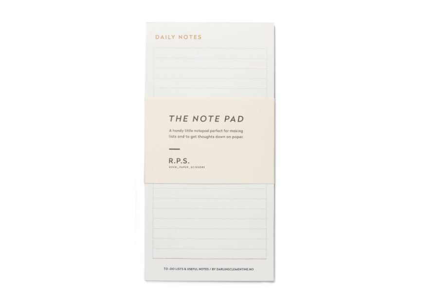 Darling Clementine Note Pad - by Darling Clementine - K. A. Artist Shop