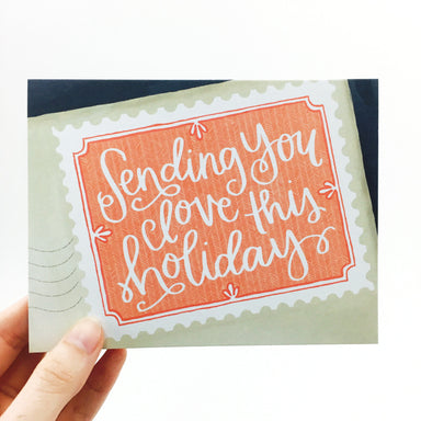 """Sending You Love This Holiday"" Card by One Canoe Two - by 1Canoe2 - K. A. Artist Shop"