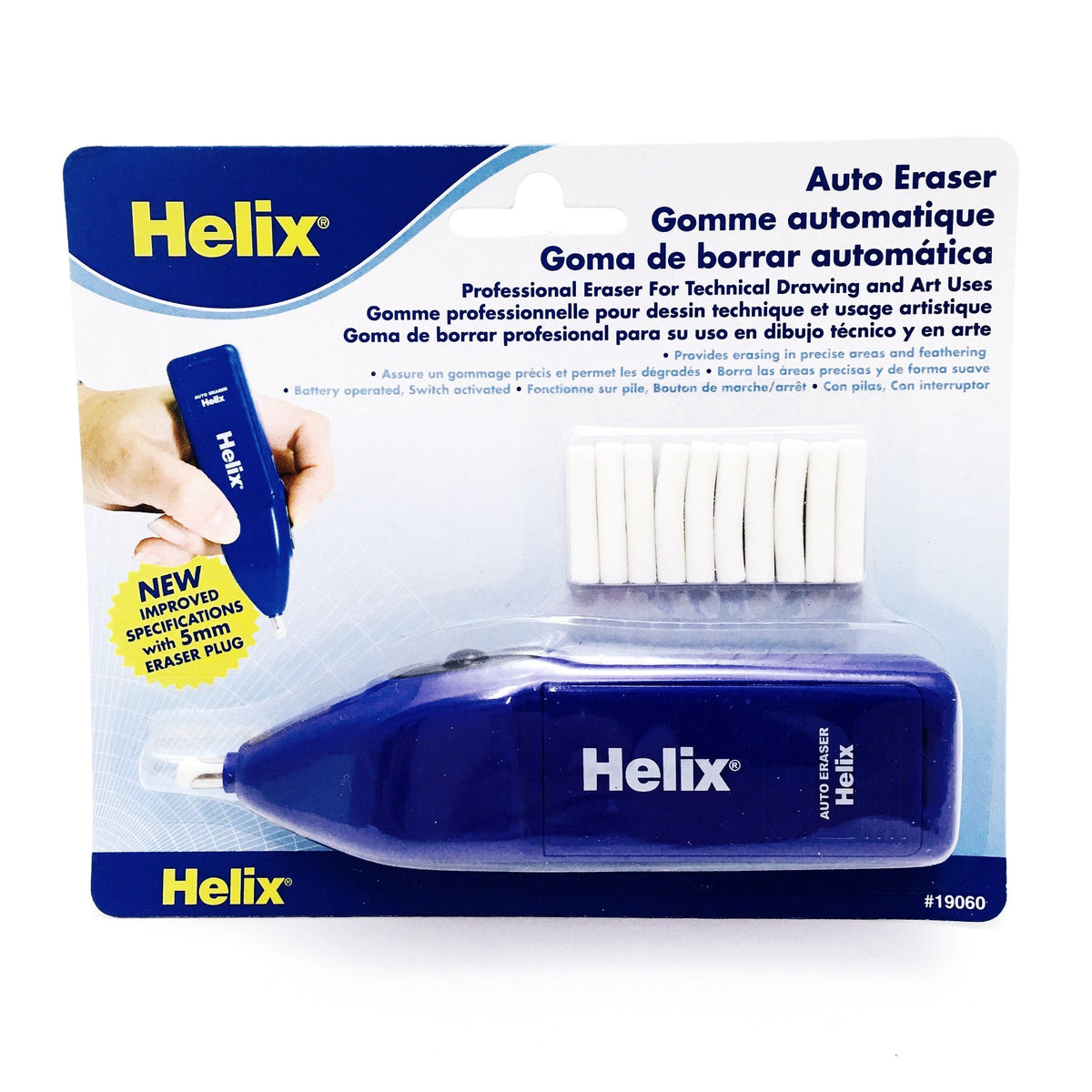 Helix Battery-Powered Auto Eraser