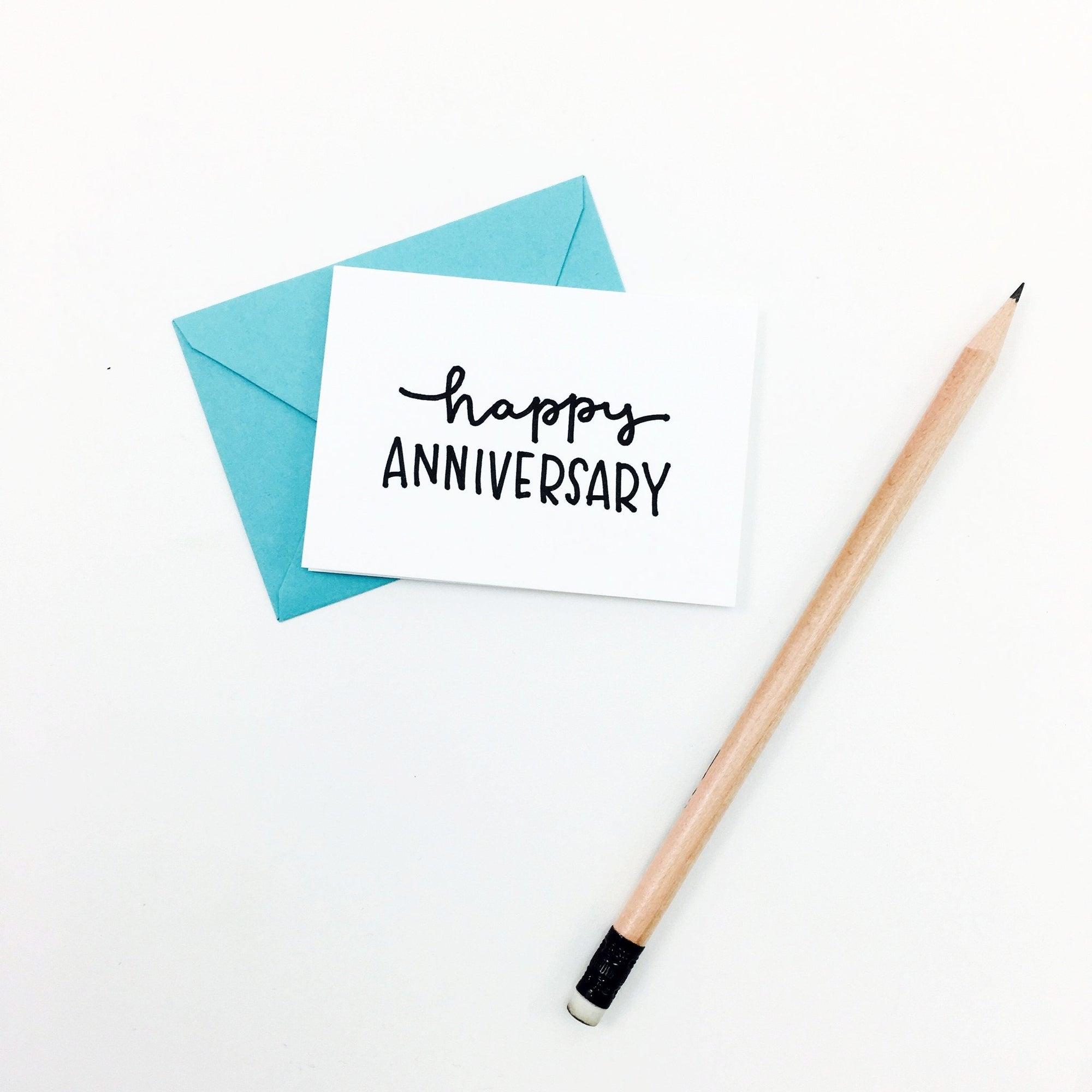 """Happy Anniversary"" Mini Hand-Drawn Greeting Card"