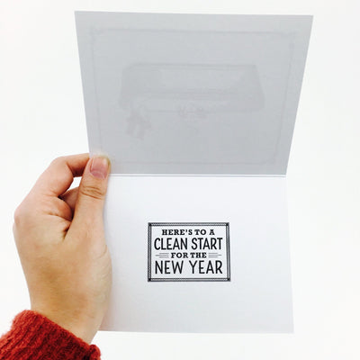 """Clean Start"" New Year Card by Paper Hatchet"