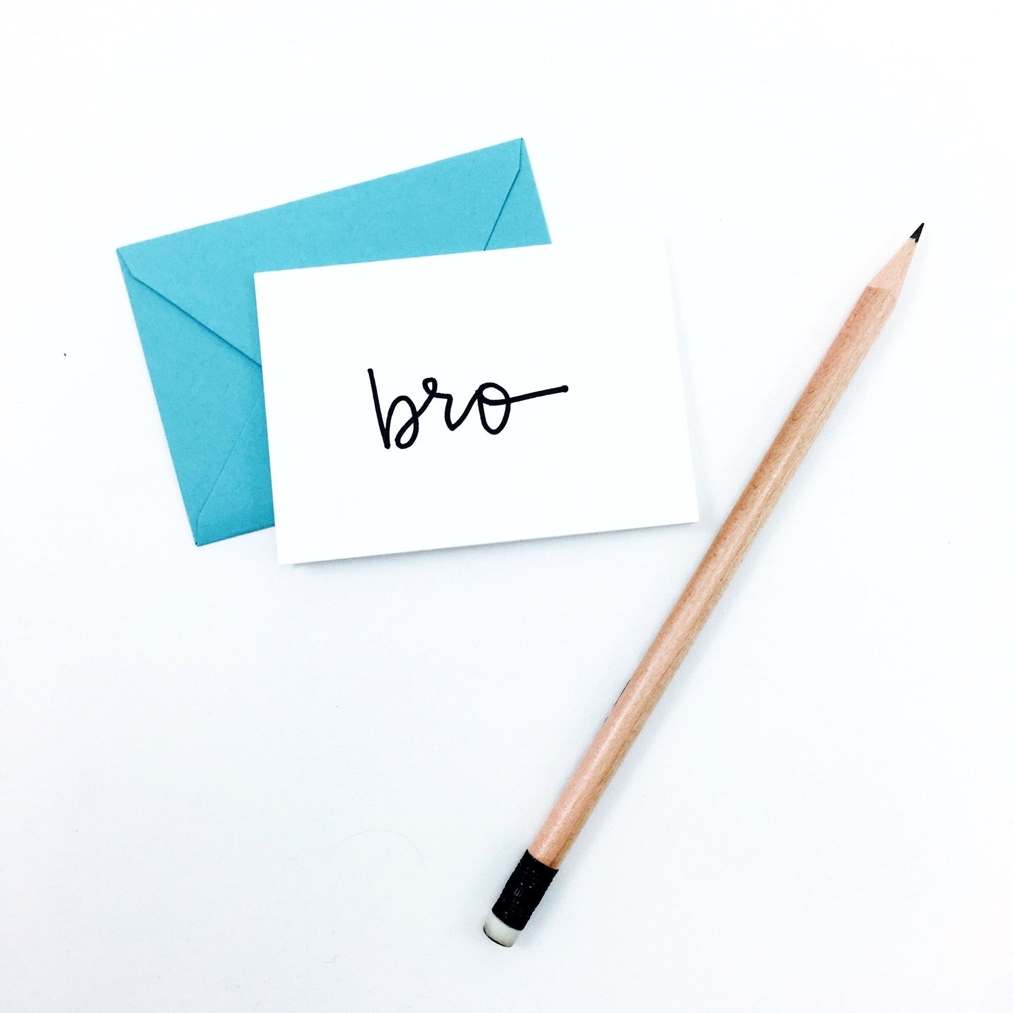 """Bro"" Mini Hand-Drawn Greeting Card by KA"
