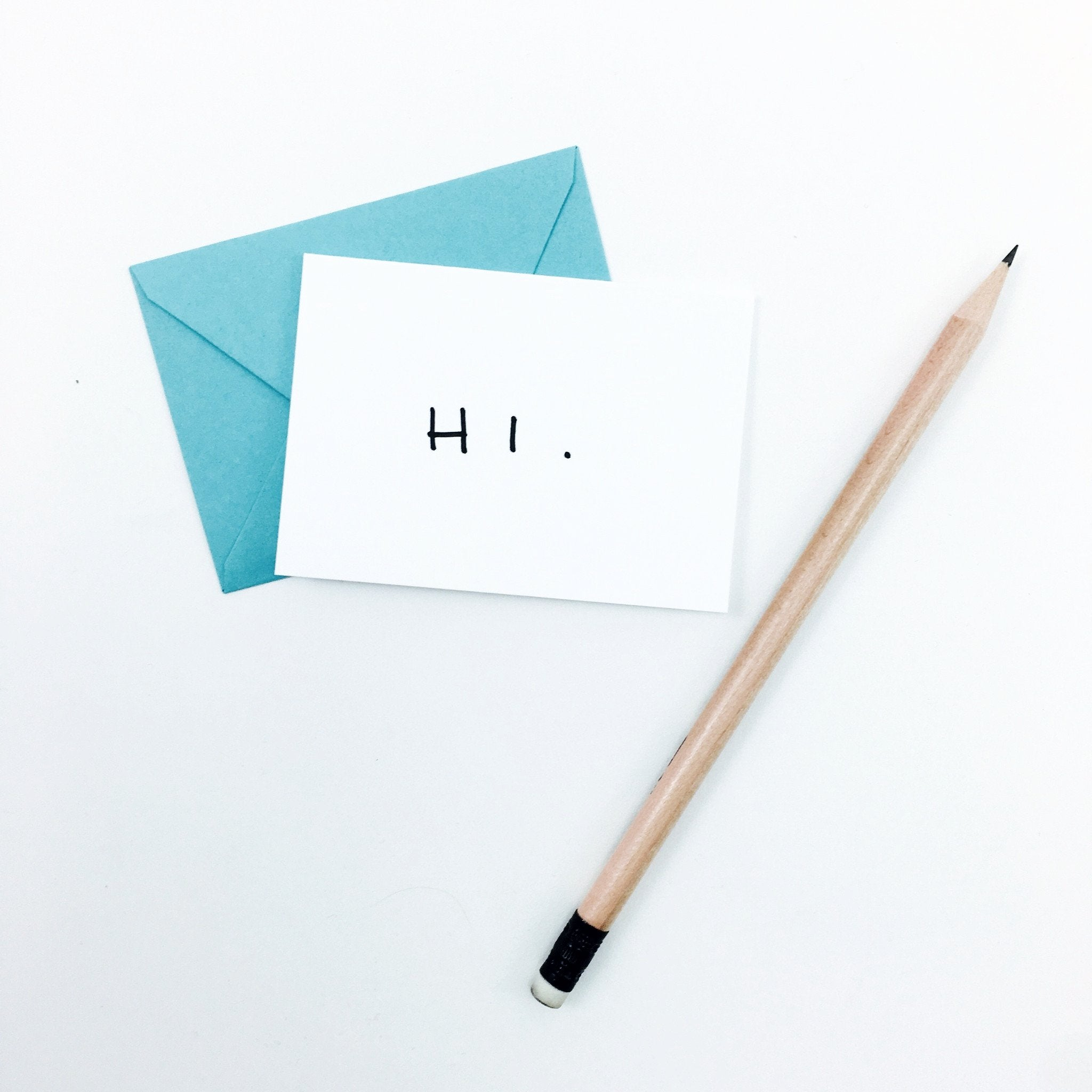 """Hi."" Mini Hand-Drawn Greeting Card - by K. A. Artist Shop - K. A. Artist Shop"