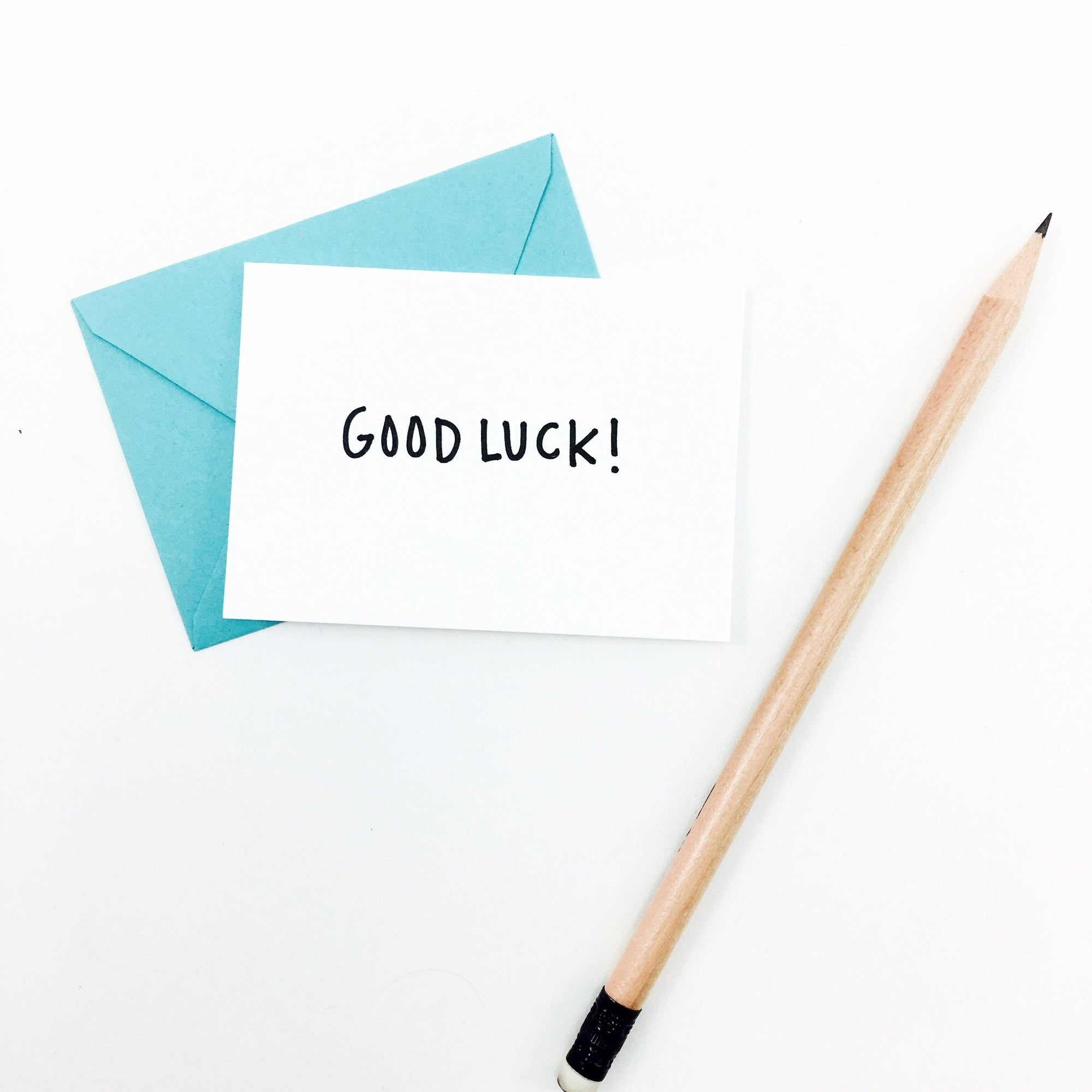 """Good Luck"" Mini Hand-Drawn Greeting Card"