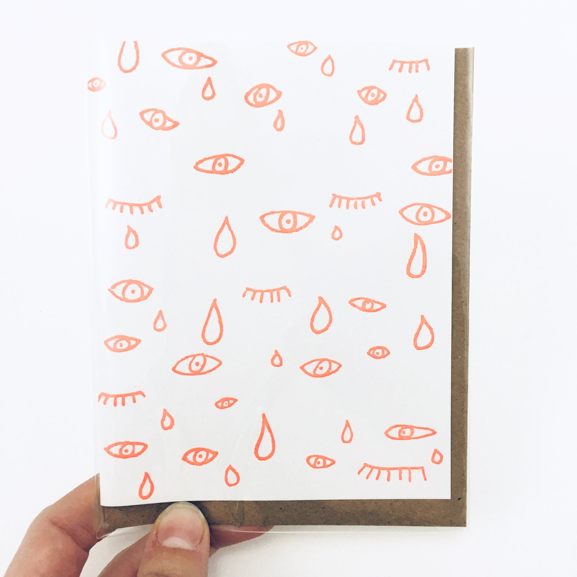 """Crying Eyes"" Greeting Card by Power and Light Press"