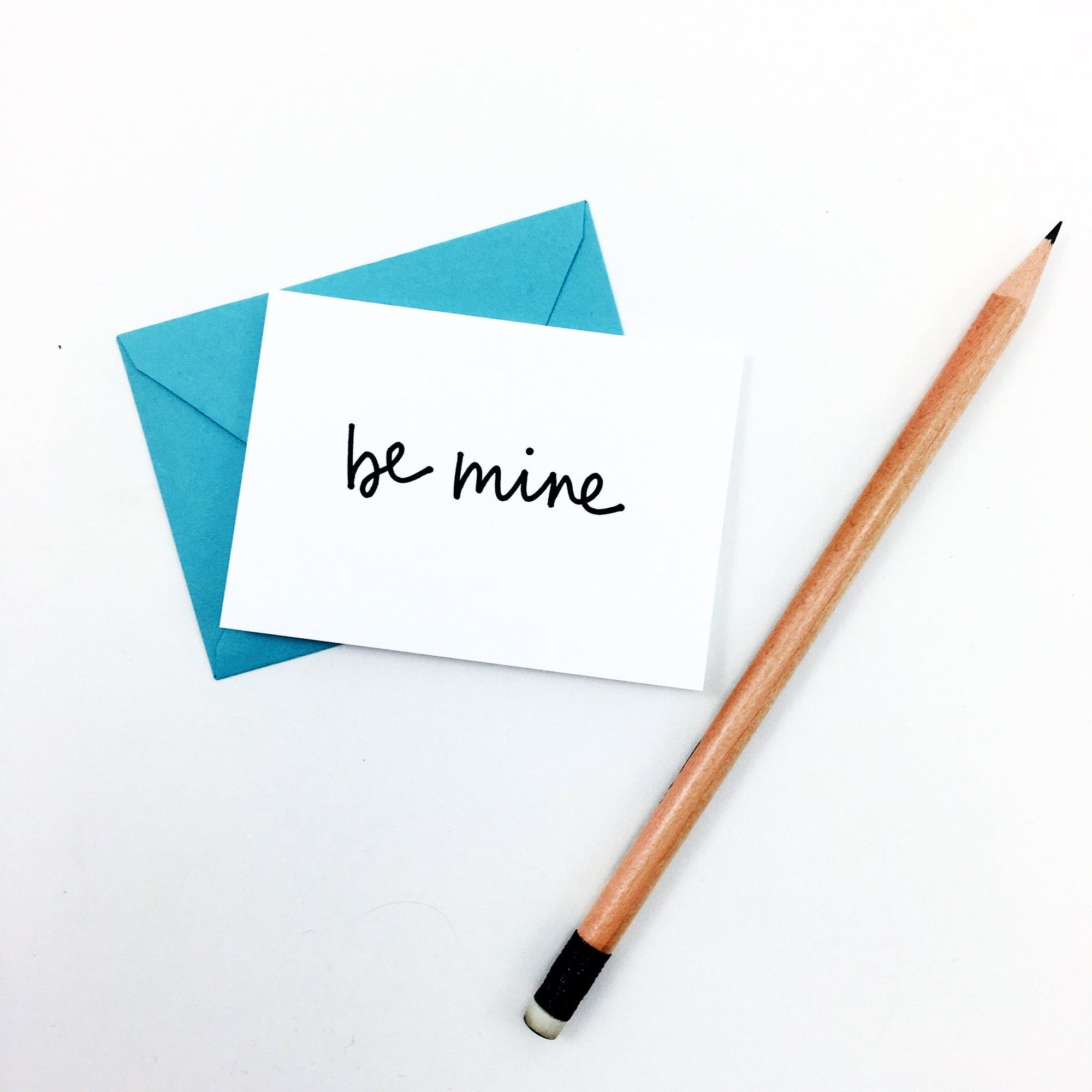 """Be Mine"" Mini Hand-Drawn Greeting Card by KA"