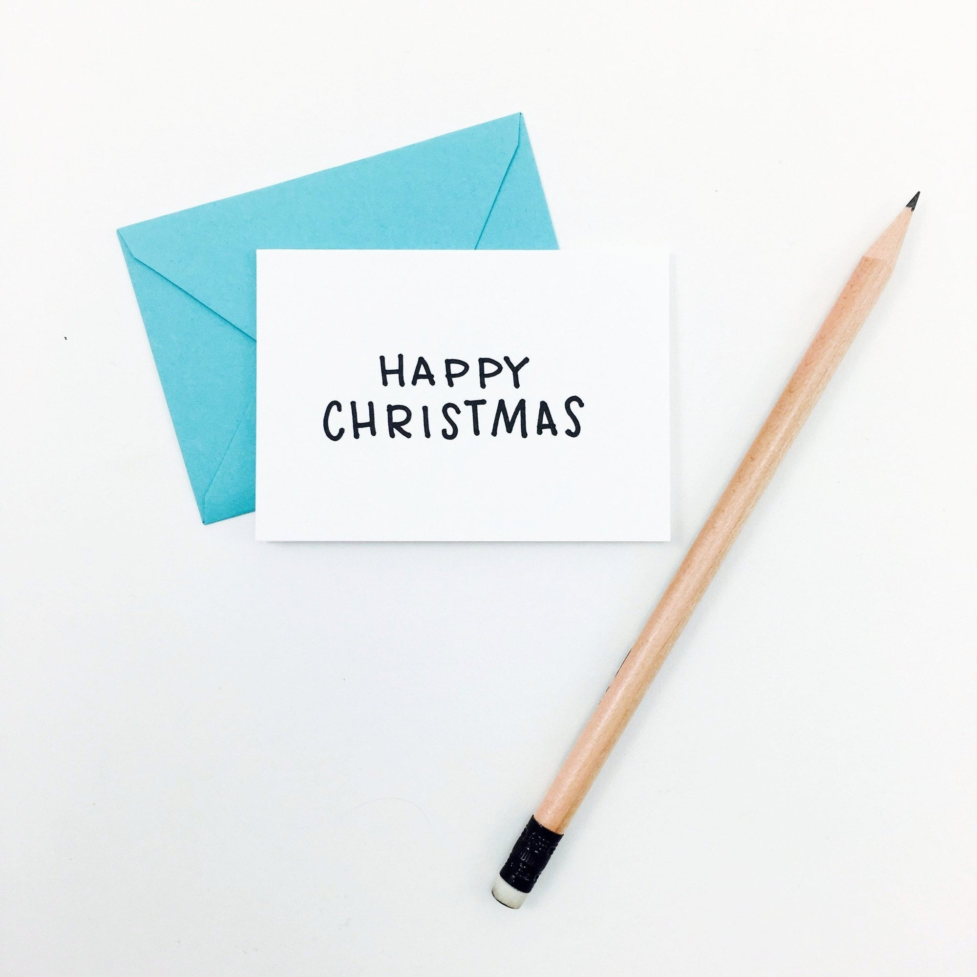 """Happy Christmas"" Mini Hand-Drawn Greeting Card"