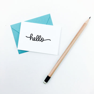 """Hello"" Mini Hand-Drawn Greeting Card"