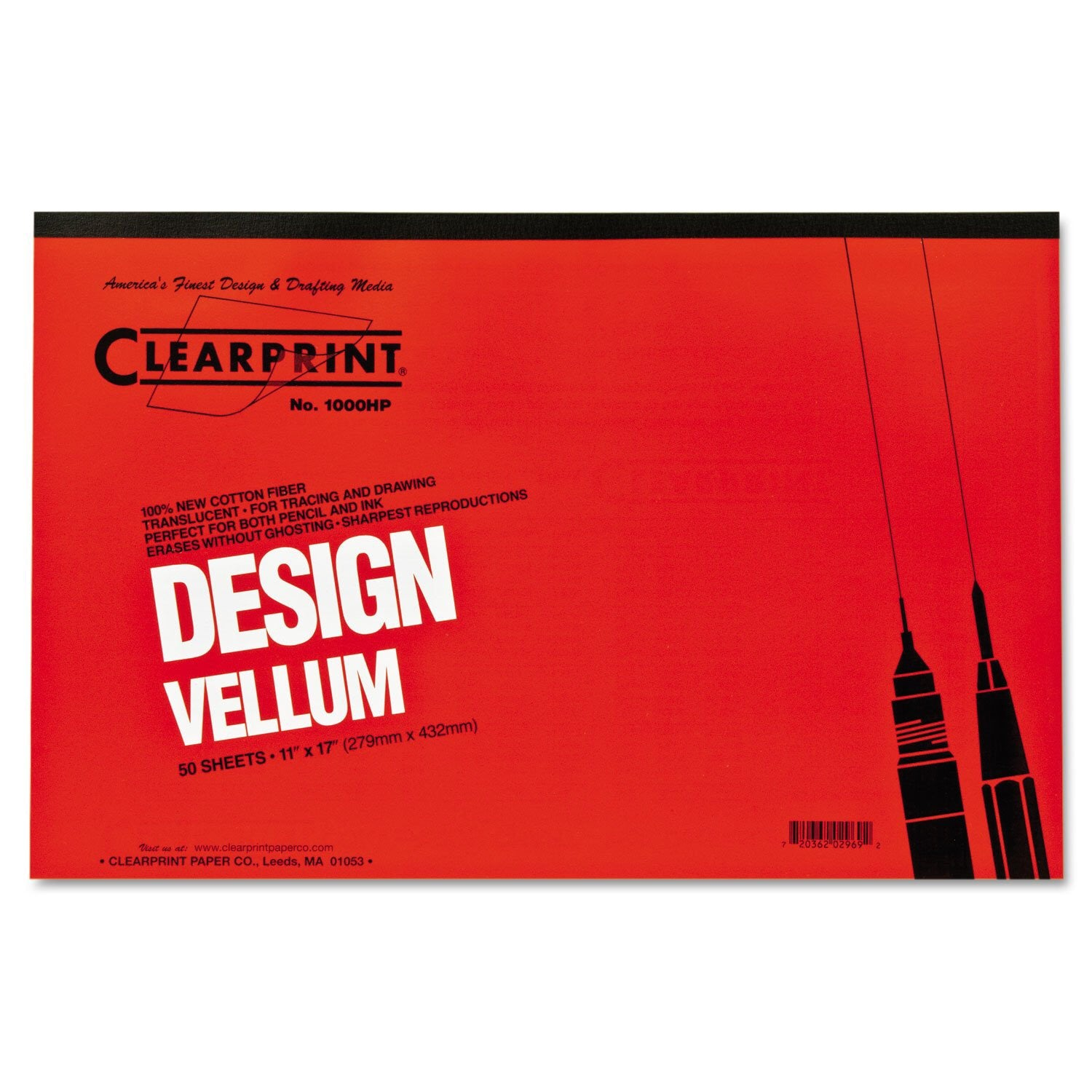Clearprint Design Vellum - Unprinted / 1000H / 50 sheets