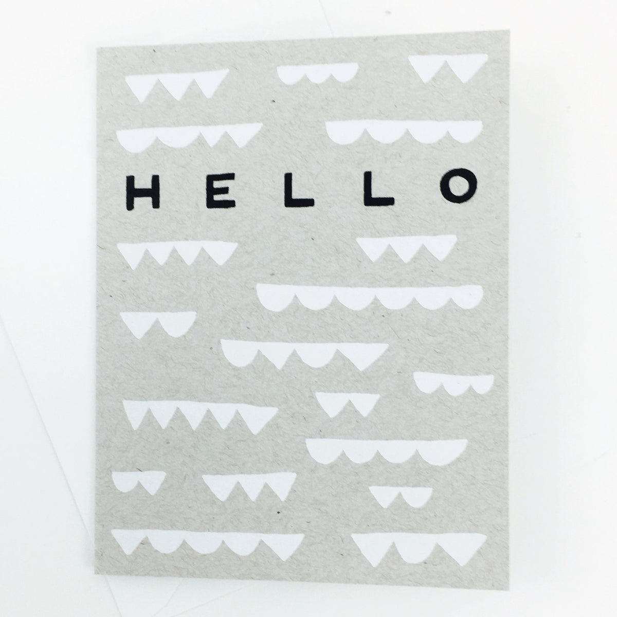"""Hello"" Cloud Card by Worthwhile Paper"