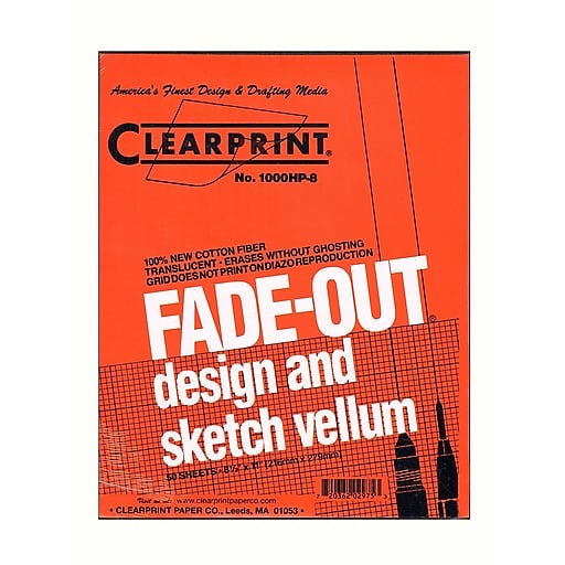 Clearprint Fade-Out Vellum - Gridded