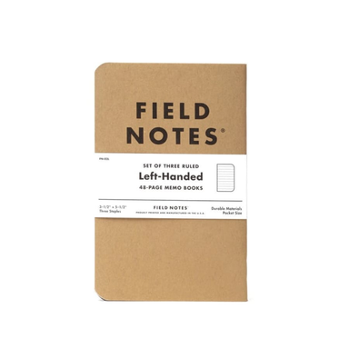 "Field Notes Left-Handed Memo Books - 3.5"" x 5.5"" - 3pk - Ruled - by Field Notes - K. A. Artist Shop"