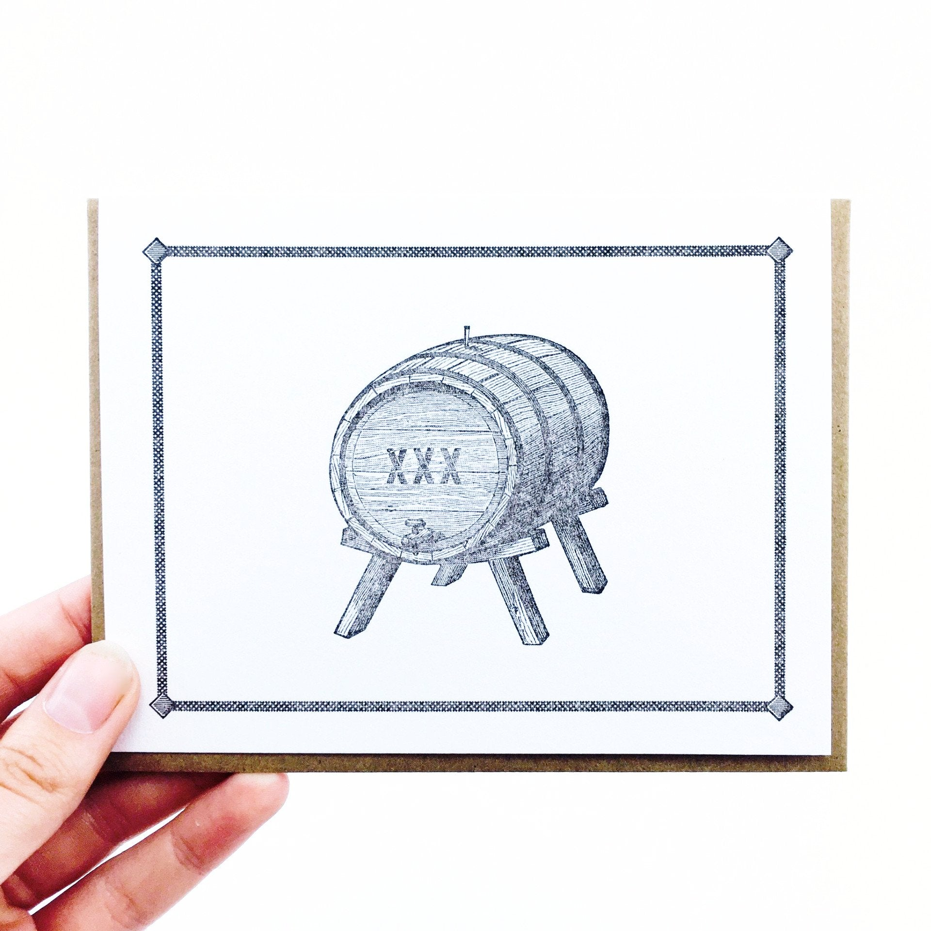 """Birthday Barrel"" Card by Paper Hatchet"