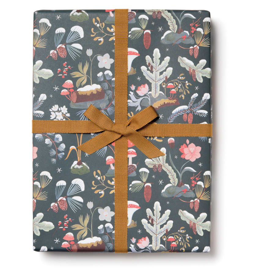 Red Cap Gift Wrap - Holiday Moss Wrapping Paper - 3 Sheets - by Red Cap - K. A. Artist Shop