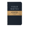 "Set of Two Pitch Black Dot Graph Note Books (4.75"" x 7.5"") by Field Notes"