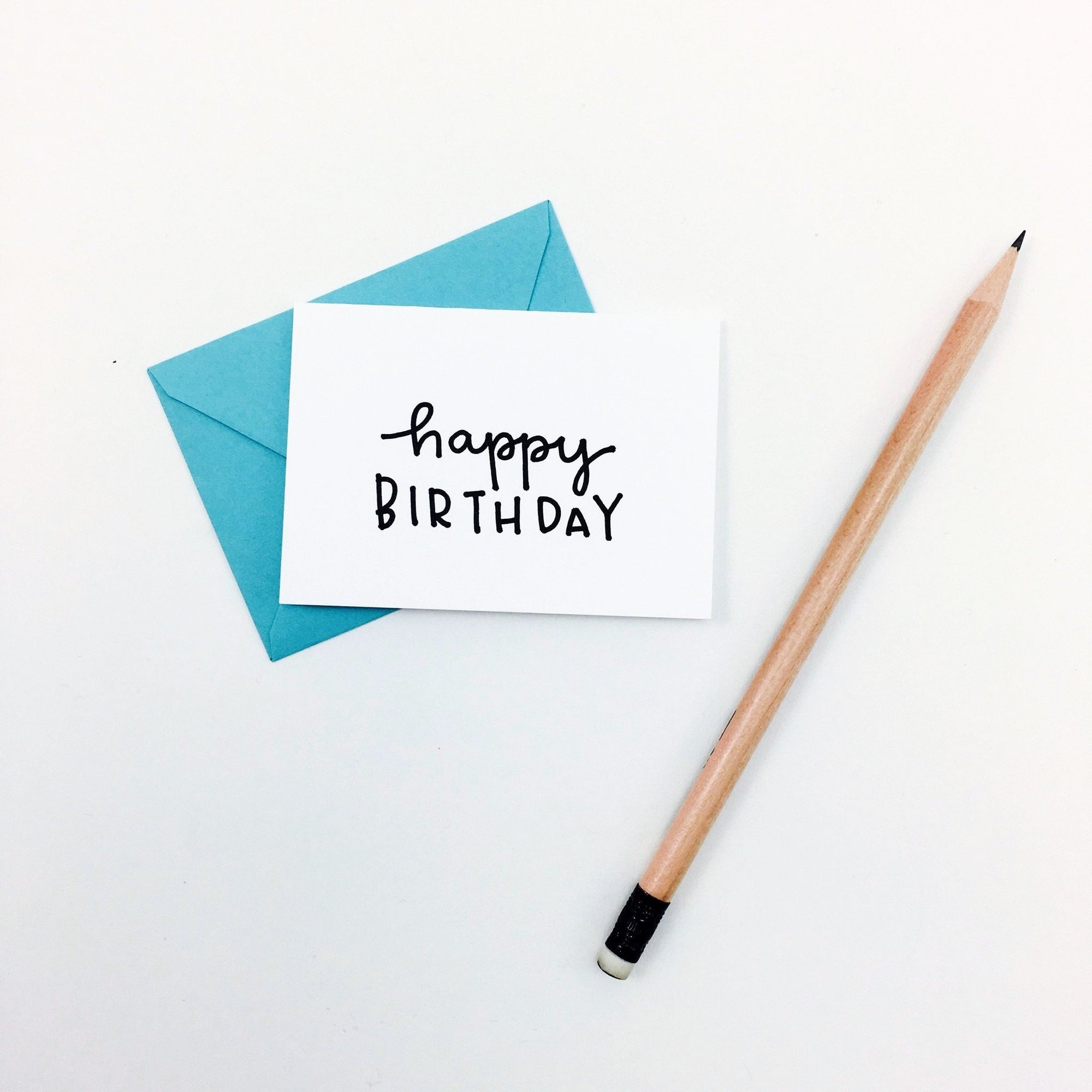 """Happy Birthday"" Mini Hand-Drawn Greeting Card"