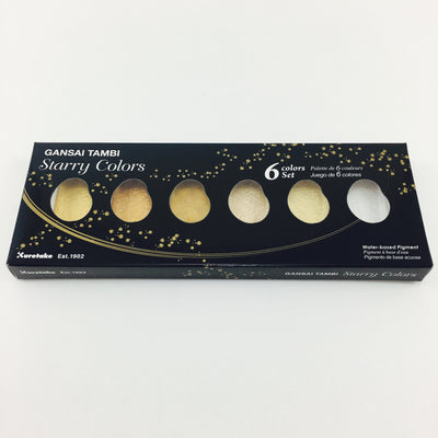 Gansai Tambi 6 Color Pigment Set
