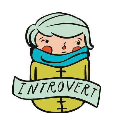 Culture Flock Introvert Sticker - by Culture Flock - K. A. Artist Shop