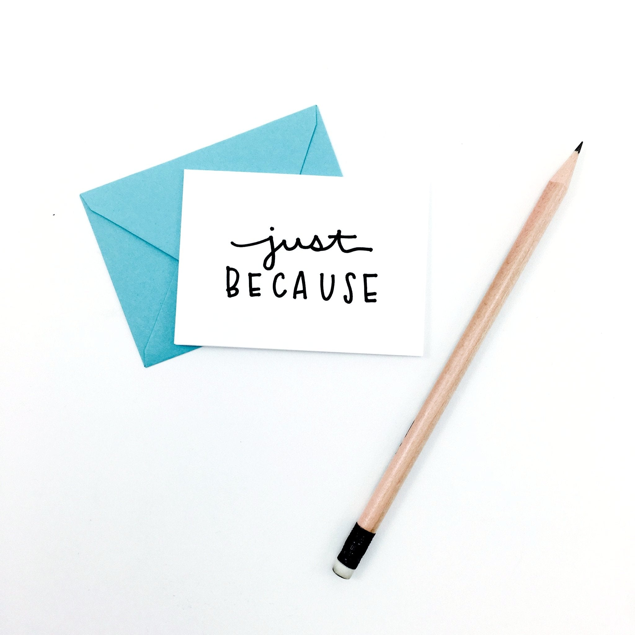 """Just Because"" Mini Hand-Drawn Greeting Card - by K. A. Artist Shop - K. A. Artist Shop"