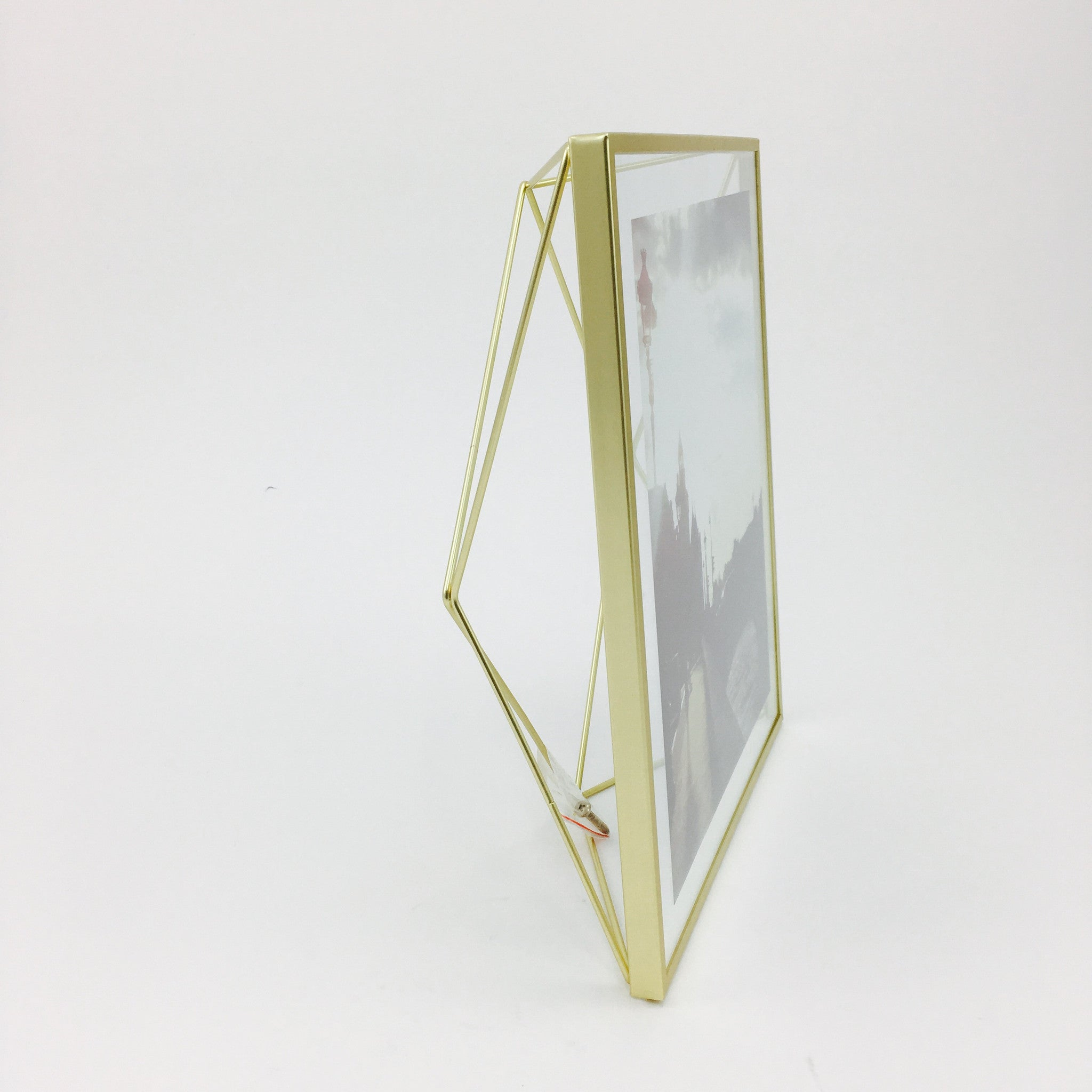 """Prisma"" Picture Frames in Matte Brass by Umbra - by Umbra - K. A. Artist Shop"