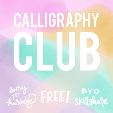 Calligraphy Club: Monthly Hangout (online) - by K. A. Artist Shop Classroom - K. A. Artist Shop