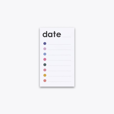 Checklist Sticky Notepad by Ashley Mary