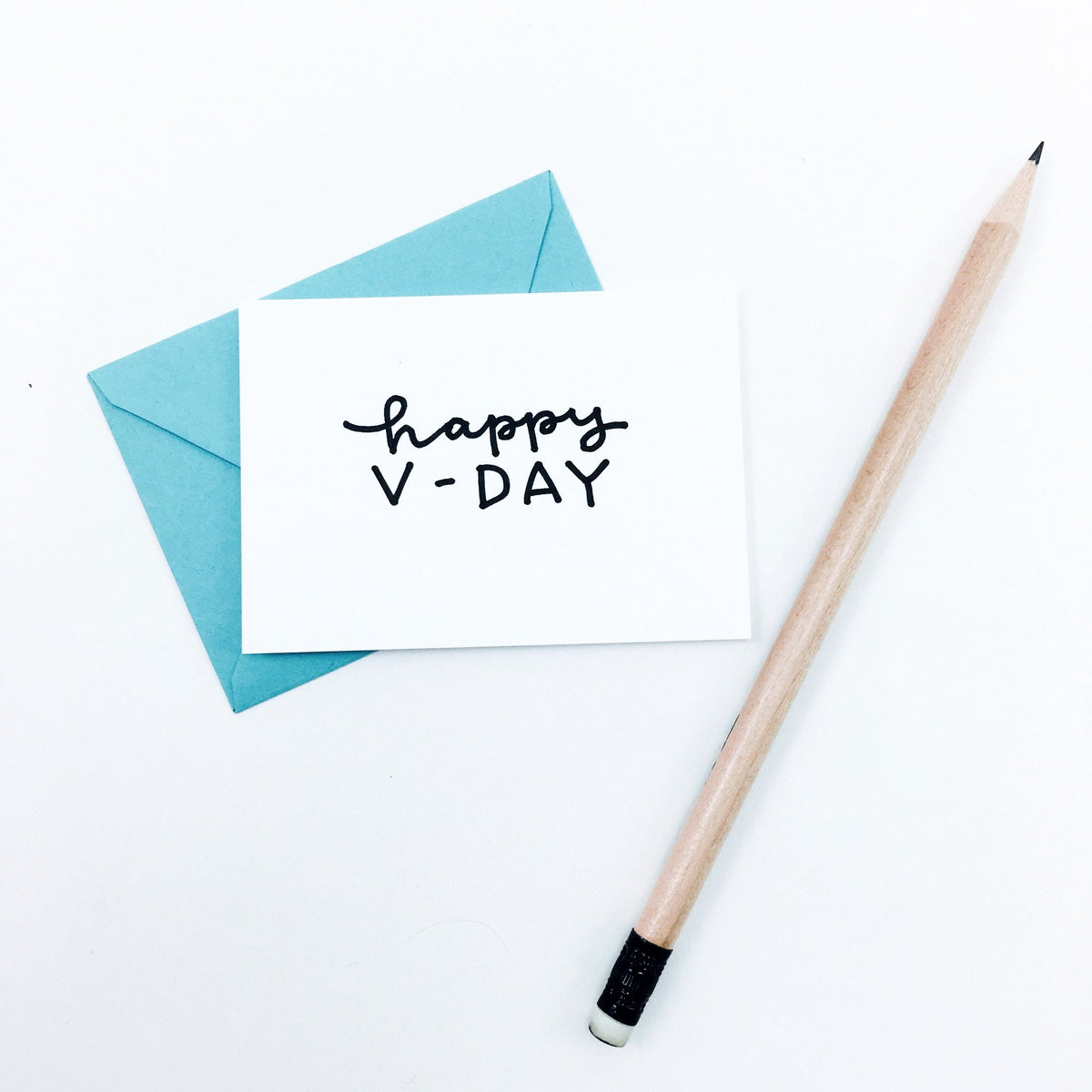 """Happy V-Day"" Mini Hand-Drawn Greeting Card"