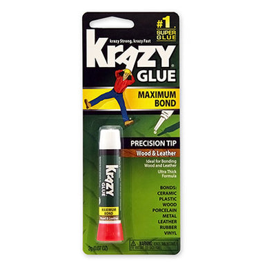 Krazy Glue - Maximum Strength for Wood and Leather - by Elmer's - K. A. Artist Shop