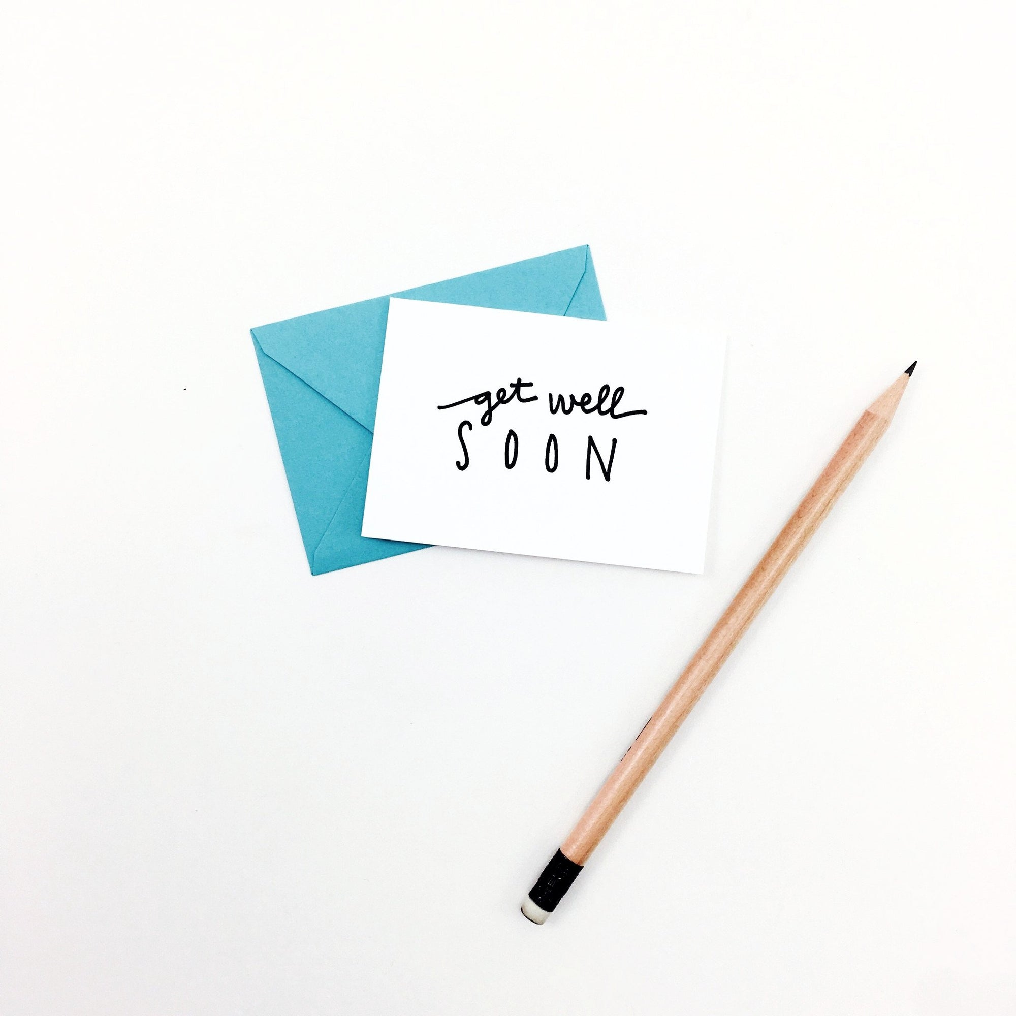 """Get Well Soon"" Mini Hand-Drawn Greeting Card"
