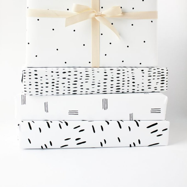 Ramona & Ruth Brushstroke Gift Wrap - Roll of 3 - by Ramona & Ruth - K. A. Artist Shop