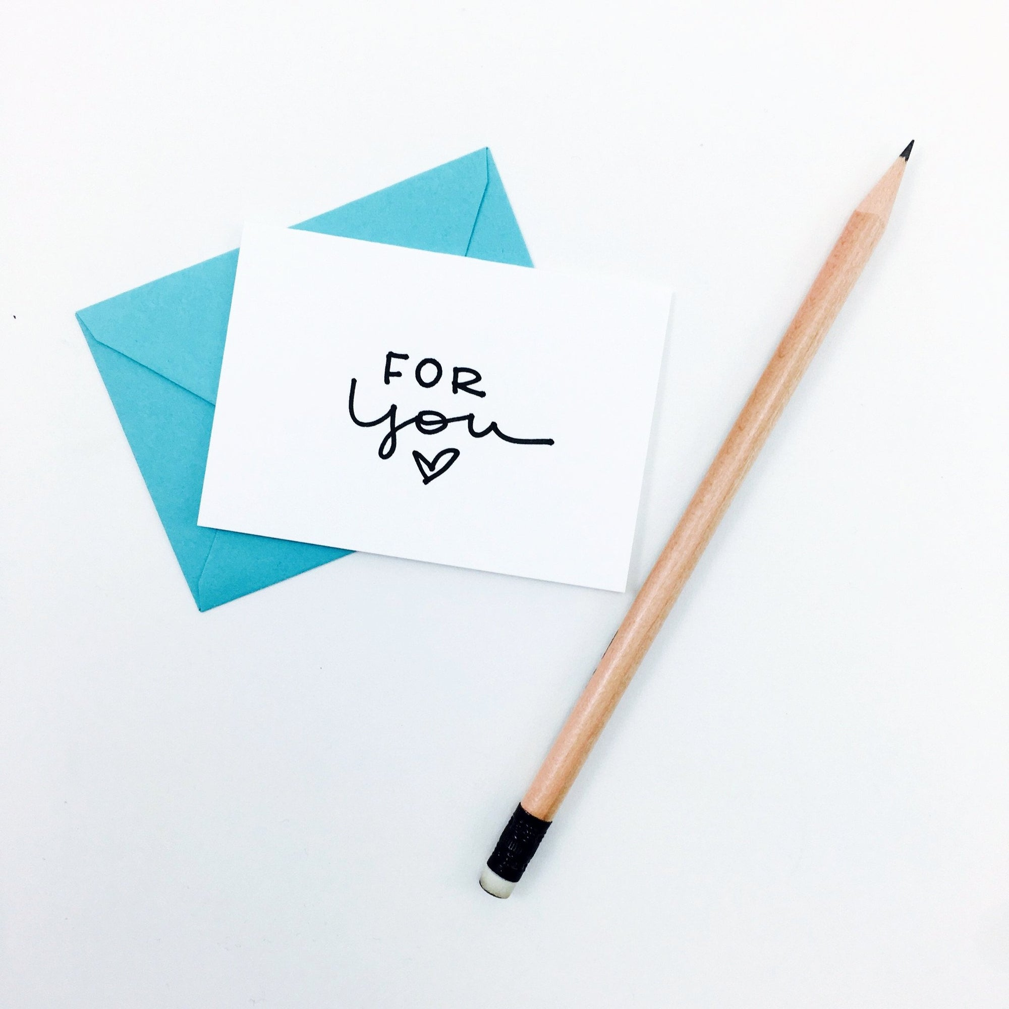 """For You"" Mini Hand-Drawn Greeting Card by KA"