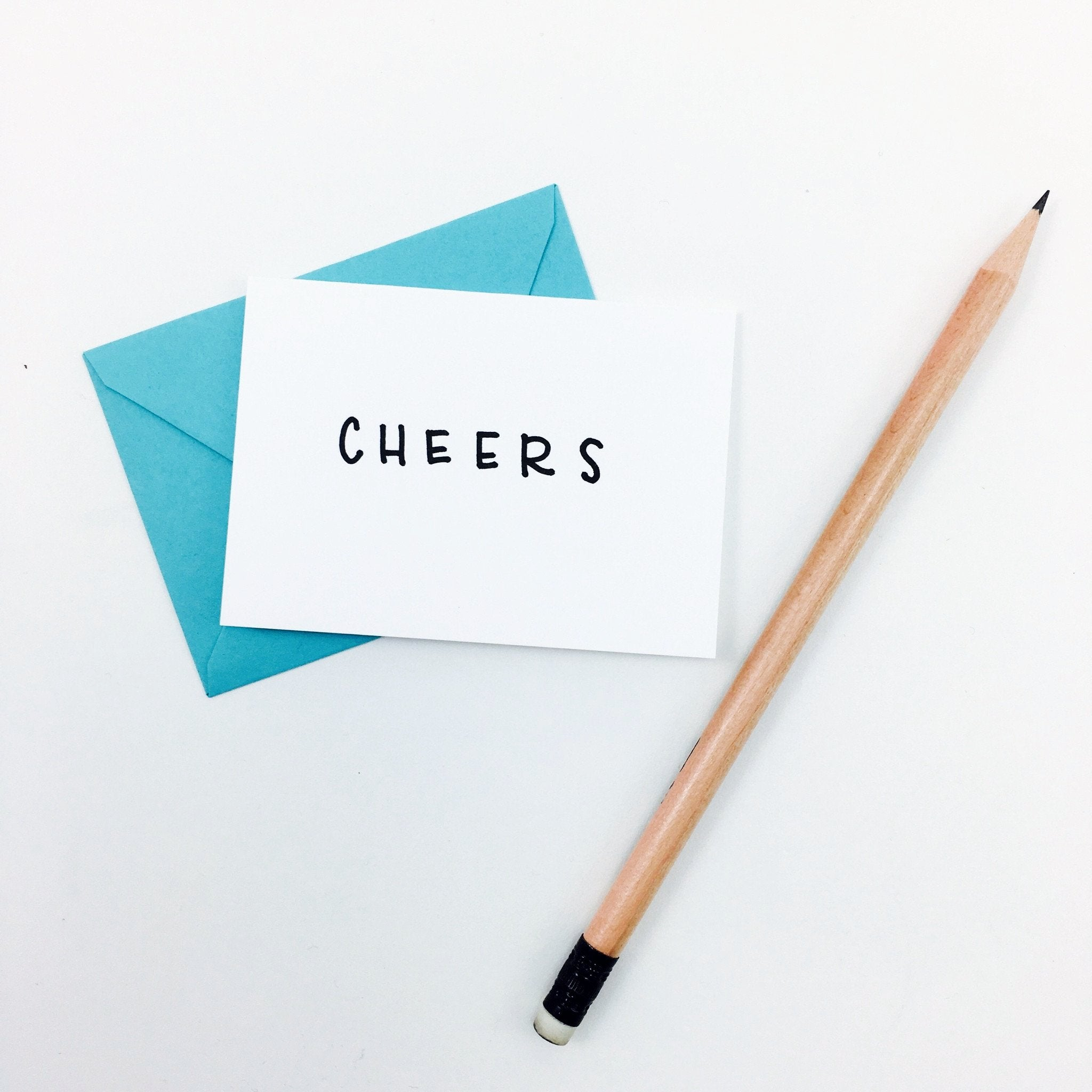 """Cheers"" Mini Hand-Drawn Greeting Card by KA - by K. A. Artist Shop - K. A. Artist Shop"