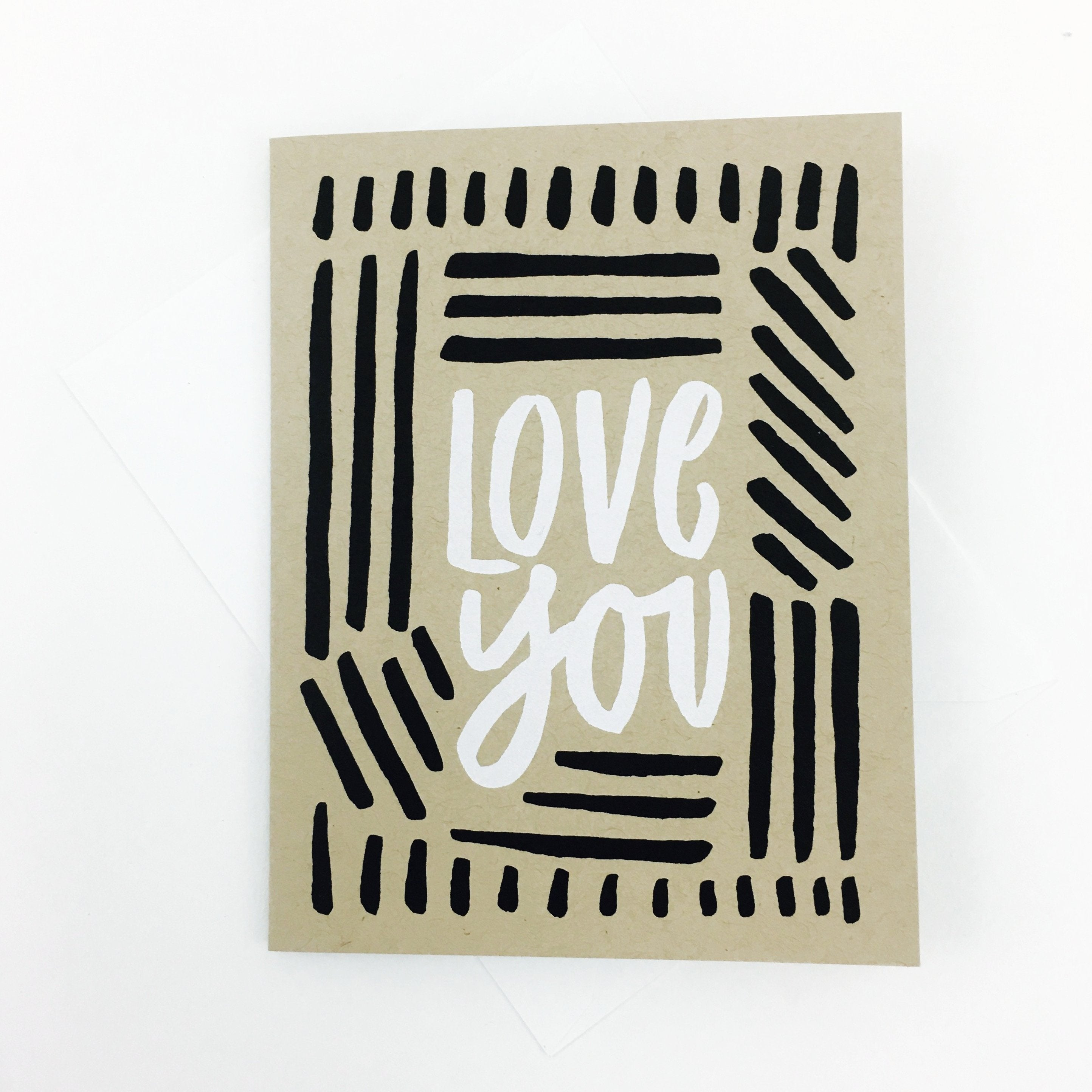 """Love You"" Card by Worthwhile Paper - by Worthwhile Paper - K. A. Artist Shop"