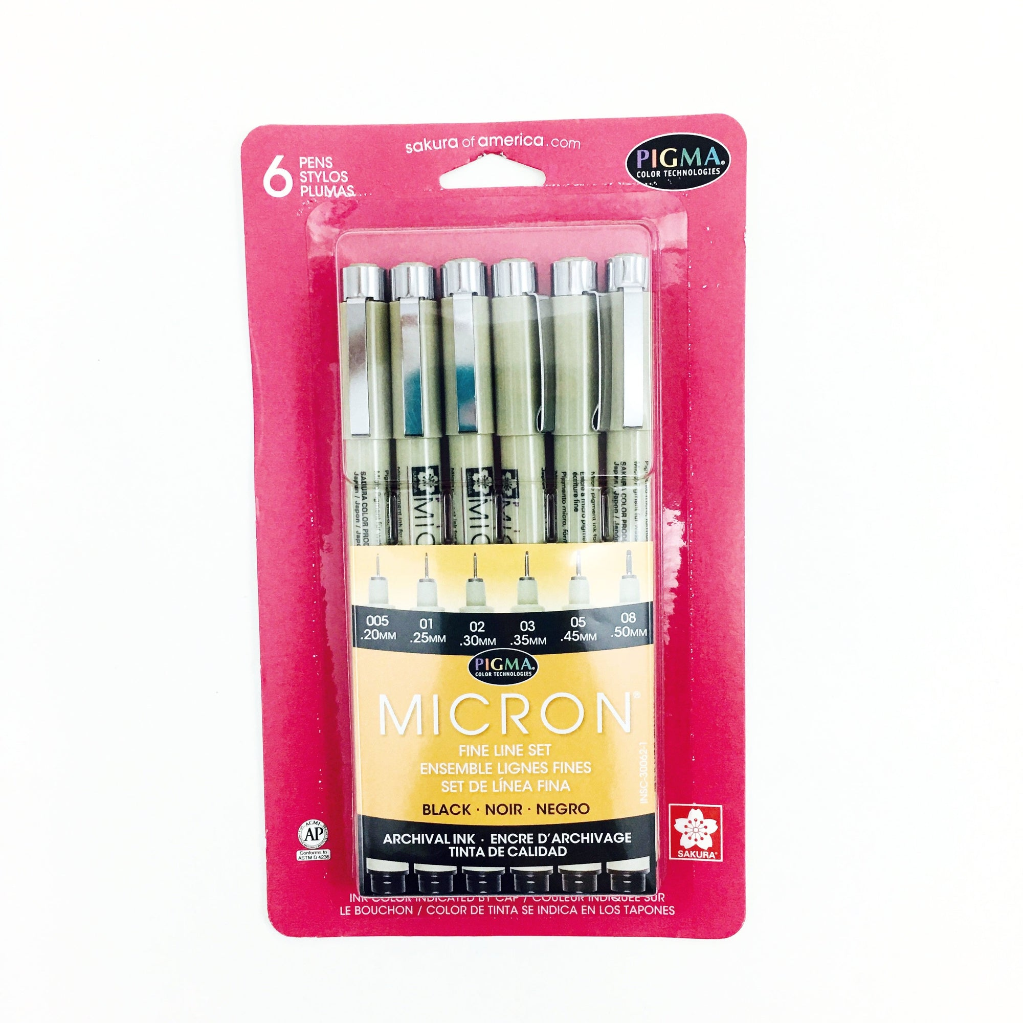 Pigma Micron Pen Sets - Black