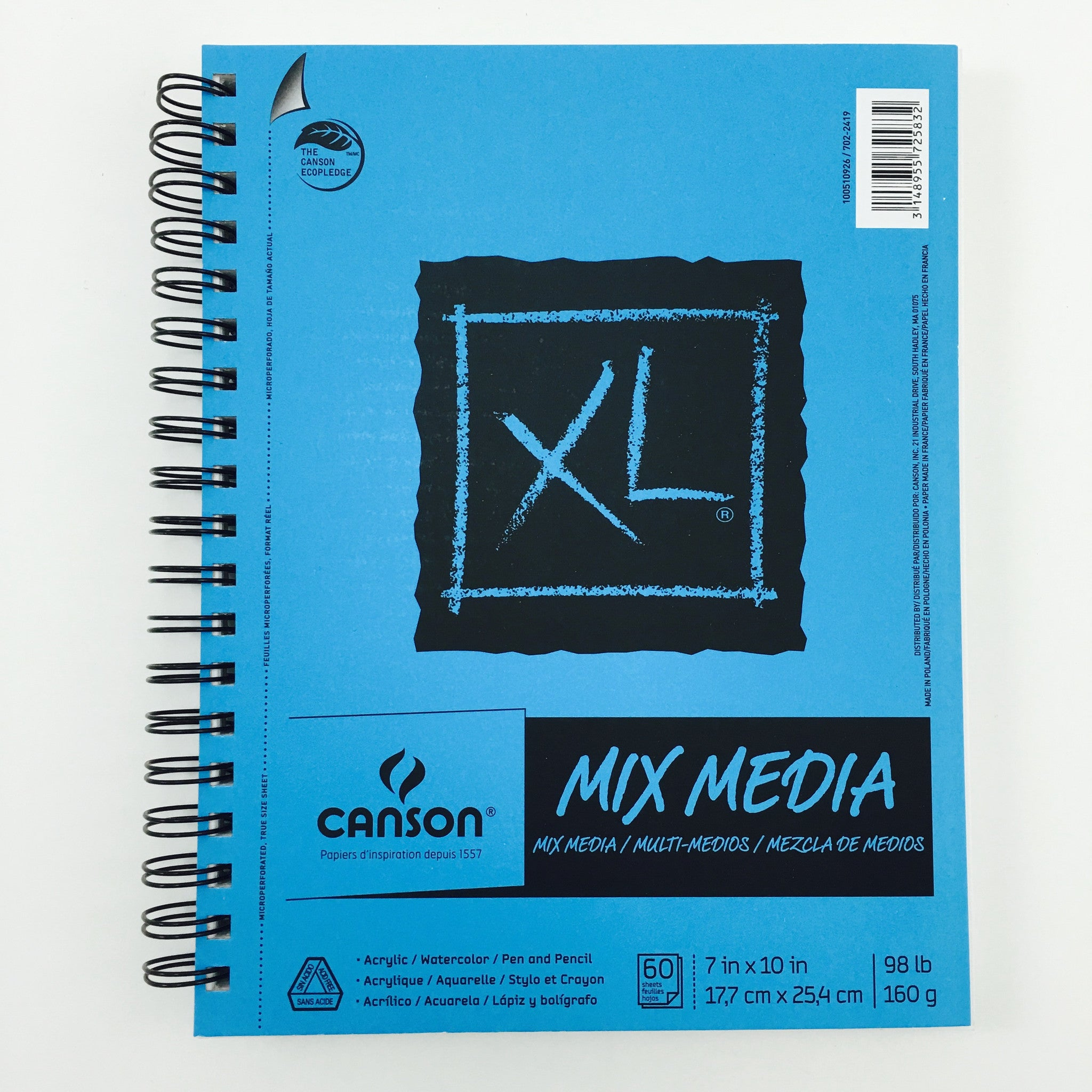 Canson XL Mix Media Sketchbooks - 7 x 10 inches - 60 sheets by Canson - K. A. Artist Shop