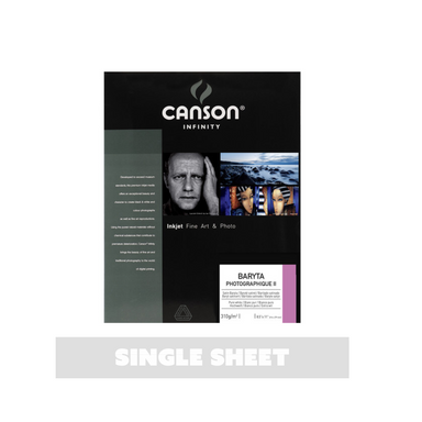 Canson Infinity Baryta Photographique Printer Paper - Single Sheet - 8.5 x 11 inches by Canson - K. A. Artist Shop
