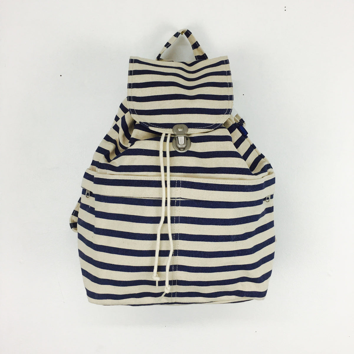Baggu Canvas Backpack - Old Style Sailor Stripe