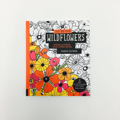 """Just Add Color"" Coloring Book by Lisa Congdon - Wildflowers"