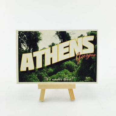 """It's under there!"" Athens, GA Postcard by Classic City Postal Service - by Erin Lovett - K. A. Artist Shop"