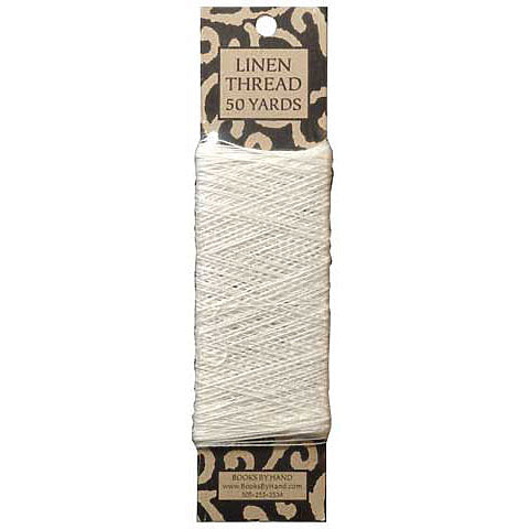 Books by Hand Linen Thread - Unwaxed, Unbleached - 50 yards