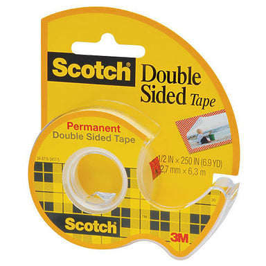 Scotch Double Sided Tape - 1/2 inch x 250 inches - by Scotch - K. A. Artist Shop