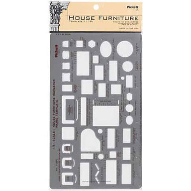 Pickett House Furniture Template 111Pi - by Chartpak - K. A. Artist Shop